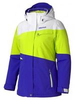 Куртка жіноча Marmot - Wm's Moonshot Jacket Blue / Green Lime / White XS